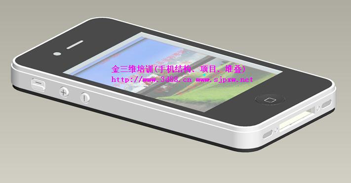 本教程以1款外形高仿苹果4(结构与原机不同)的手机为题材,讲述一款全屏(电容屏)触摸智能手机的结构要点、用Proe画手机的画图技巧及画图时的参照关系掌控。 该视频包含的典型手机结构有(真TP结构和假TP结构两个机型): 1、超薄机型结构,超薄机型堆叠分析,整机厚度为:10.