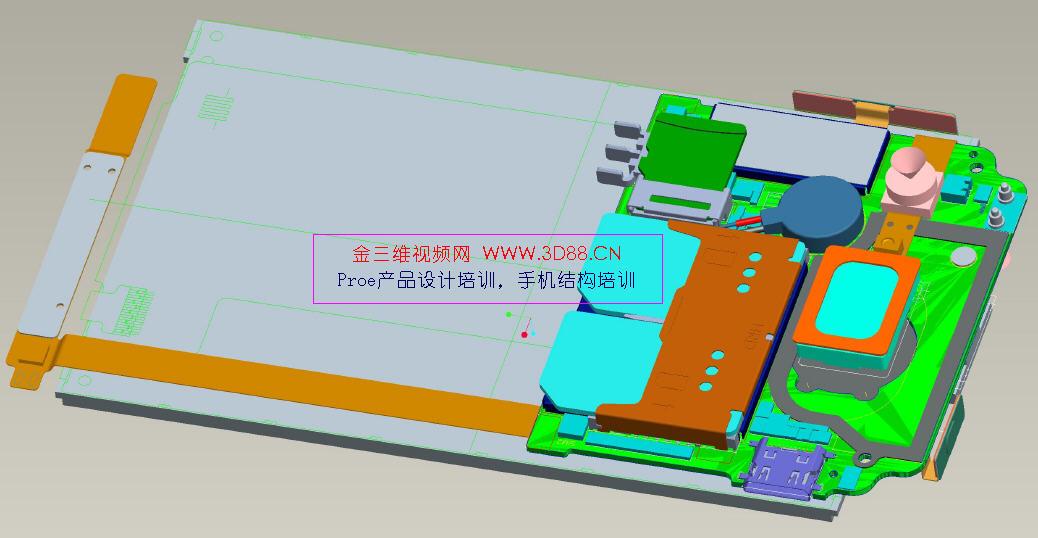 滑盖结构设计示意图