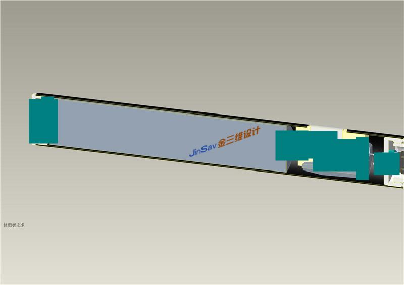 烟杆型,杆子型电子烟结构设计剖面截图,金属外壳电子烟结构设计公司