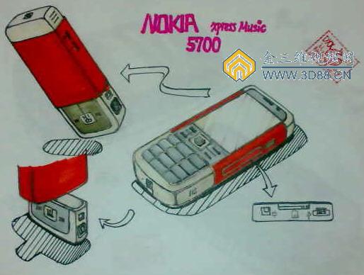 多功能刀产品设计图 电子产品设计效果图