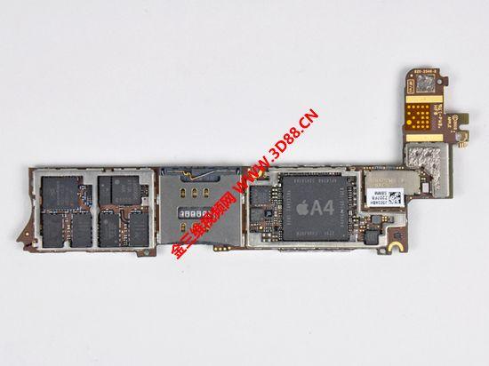苹果4手机拆机|苹果4拆机图片|iphone4拆机图解|4