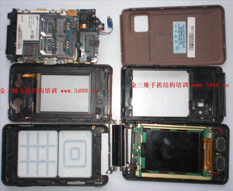 翻盖手机拆机图片,翻盖手机结构图